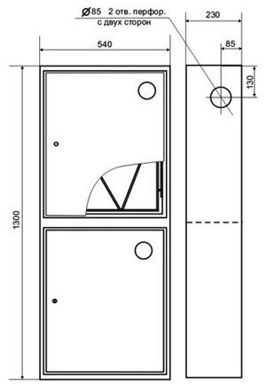 Схема установки. Пожарный шкаф