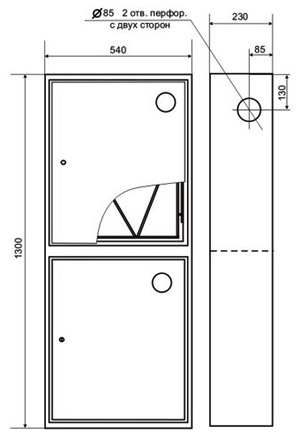 Пожарный шкаф ШПК-320Н